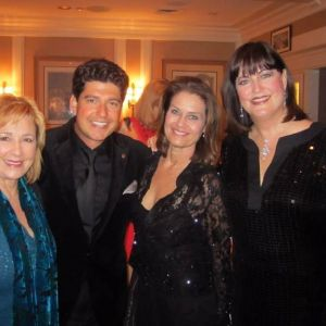 Danny Bacher with Roseanna Vitro, Kari Strand and Ann Hampton Callaway at a Sammy Cahn tribute concert. Photo courtesy of Stephen Sorokoff
