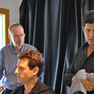 Danny with his two arrangers, Jason Teborek and Grammy Nominee Pete McGuinness. Photo courtesy of Jane Bacher