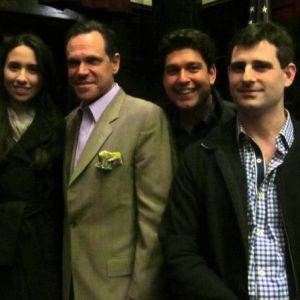 Danny Bacher with Singers/ Vanessa Perea and Kurt Elling, and pianist/arranger Jason Teborek photo courtesy of Erin Beirnard