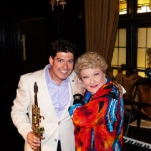 Danny Bacher, after performance with legend Marilyn Maye. Photo courtesy of Stephen Sorokoff